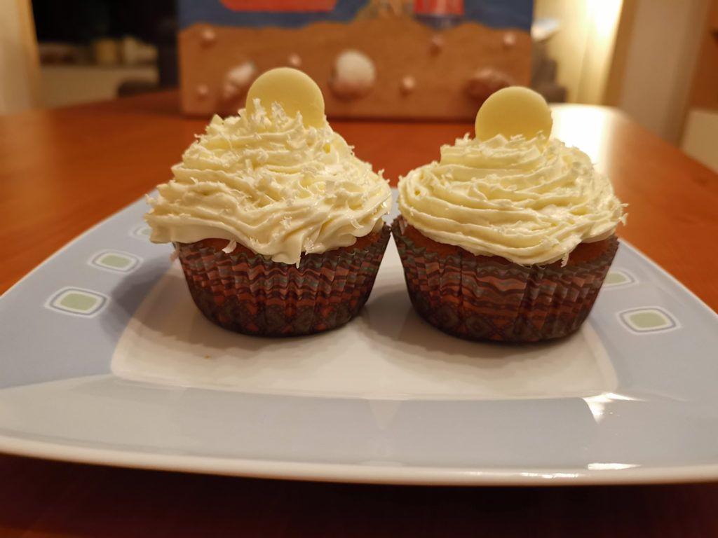 Muffins weiße Schokolade